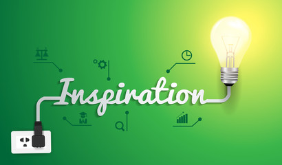 Vector inspiration concept with light bulb idea modern design