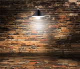 Vector brick wall room