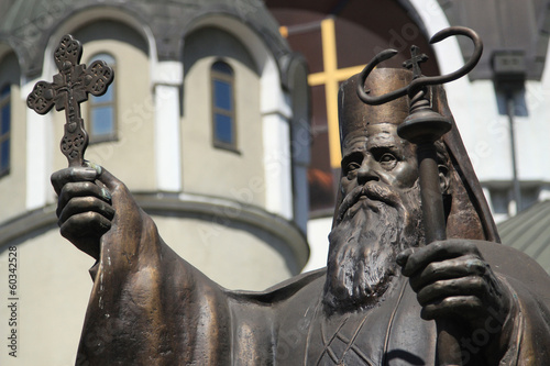 St. Kiril in front of Macedonian Orthodox Church