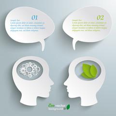 Two Head Speech Bubble Gears Eco