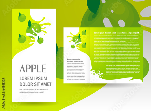 brochure green apple splash