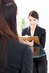 young asian businesswomen working