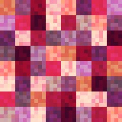 seamless shiny red squared pattern