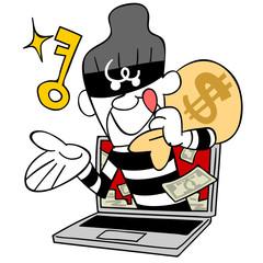 パスワードを盗む泥棒