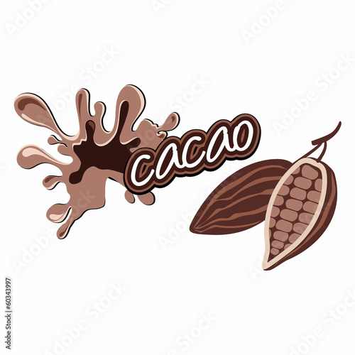 Cacao label design.