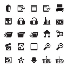 Silhouette 25 Detailed Internet Icons