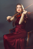 Elegant fiddle player