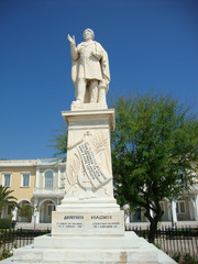 Dionisios Solomos, Greek poet, Zante island, Greece