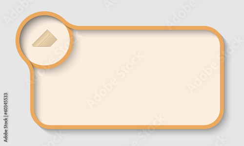 ocher vector text frame for any text and envelope