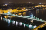 Budapest, night panorama with Elisabeth Bridge