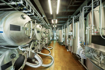 Tanks in microbrewery