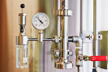 Manometer equipment of brewery