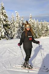 femme a ski, jura