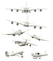 Passagierflugzeuge Kollektion