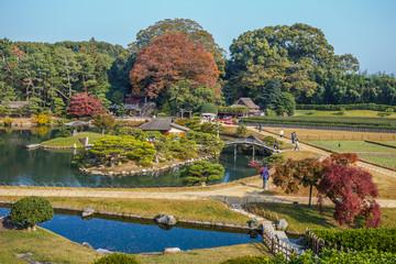 View from Yuishinzan hill at Koraku-en in Nara