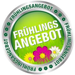 """Button """"Frühlingsangebot"""" grün/pink/silber"""