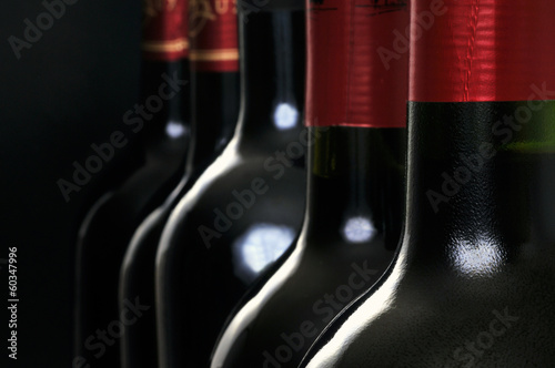 Bouteilles de vin rouge