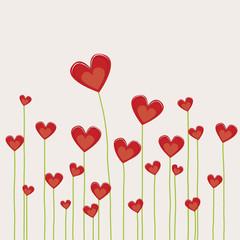 champ de cœurs