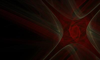 fractal ornament on a black background