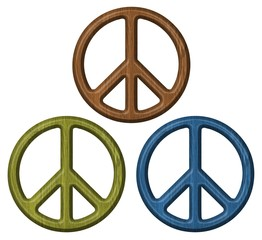 wooden symbol of peace