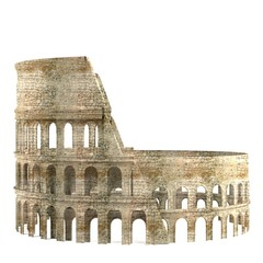 realistic 3d render of coloseum