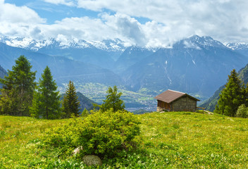 Summer mountain landscape (Alps, Switzerland)