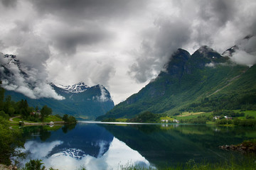 Mountain lake in Norway