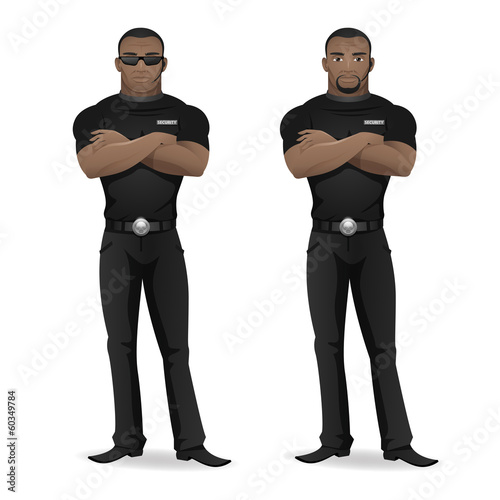 Black man security guard of nightclub