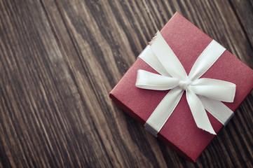 Red elegant gift box