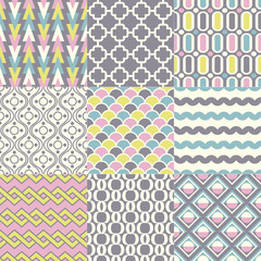 seamless retro geometric wallpaper