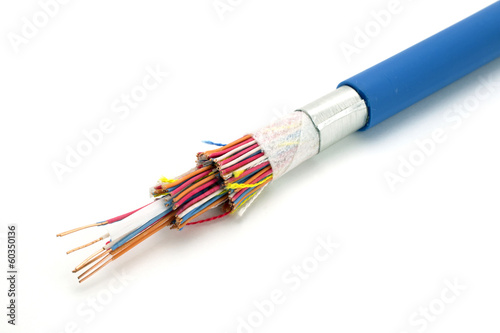 Demo model of a cable that shows how it is constructed. - 60350136