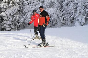 skieurs, Jura