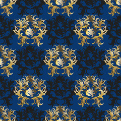 Blue - gold background
