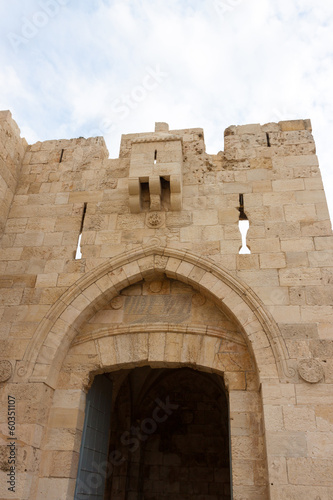 Jaffa gate in a wall of Jerusalem