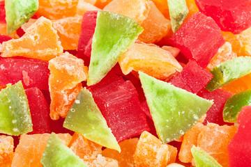 papaya cantaloupe pomelo macro