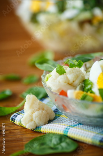 summer diet salad with cauliflower