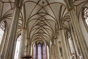 Interior of ancient church in Munster, North Rhine-Westphalia