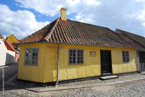 Leinwanddruck Bild Hans Christian Andersen House in Odense, Denmark
