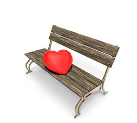 Banco de Madera  con un Corazón