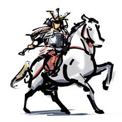 Mounting a horse Musha