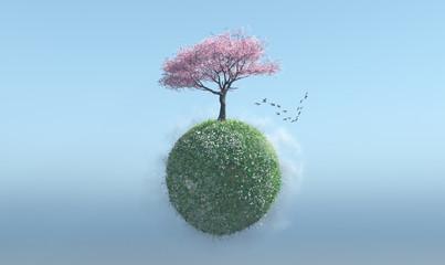 Arbol en primavera