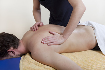 back massage on a massage table