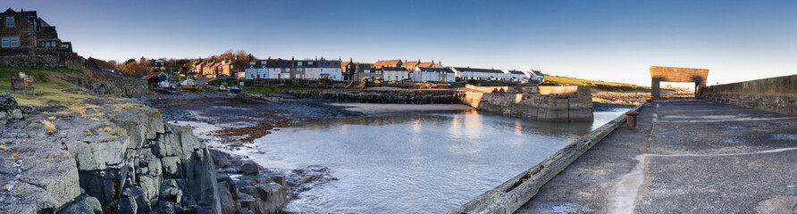 Craster Harbour panoramic