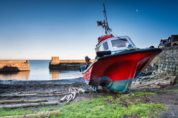 Boat in Craster Harbour