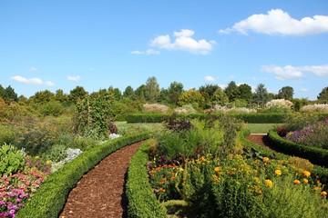 Herb and flower garden