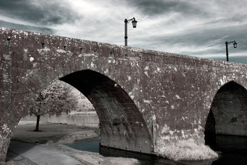 Infrared medieval bridge