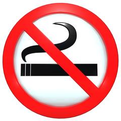 """Sign (button) """"No smoking"""""""