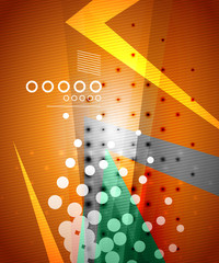 Vector dotted modern techno abstraction