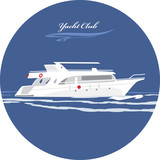 Yacht club. Icon for design