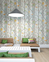 Children Room With Colorful Wallpapers